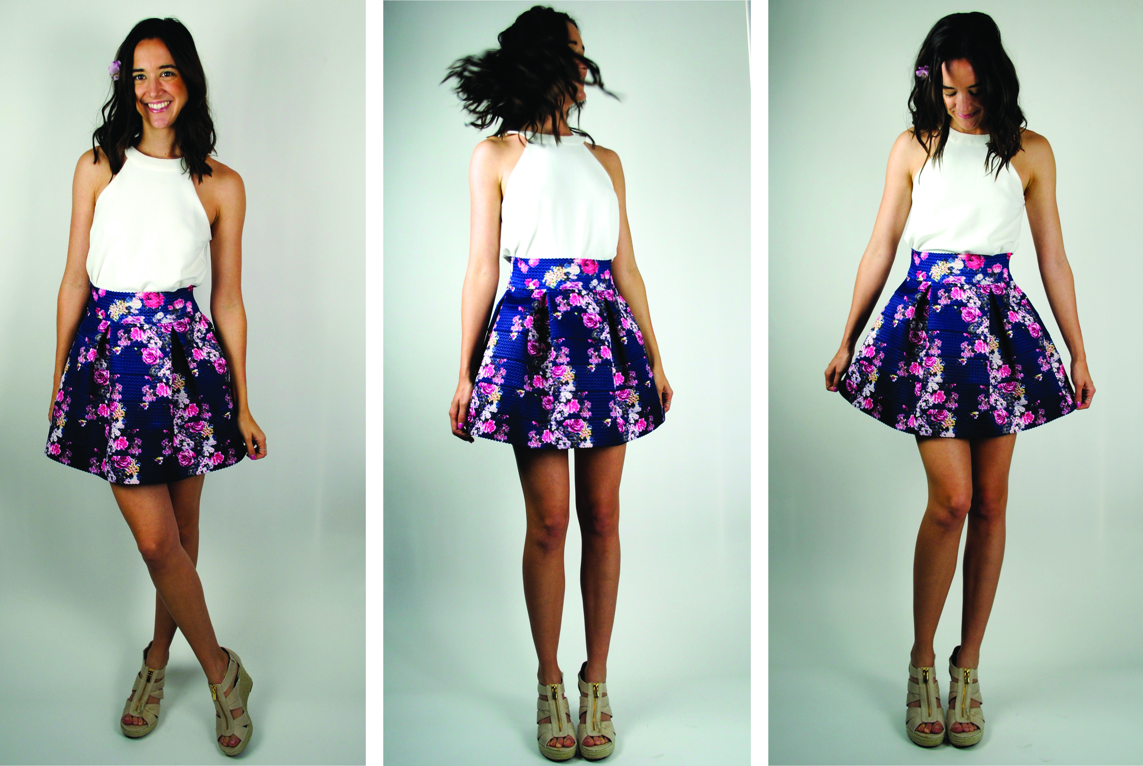 Twirling in florals